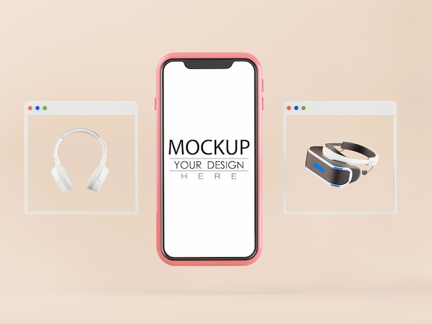 Empty screen smartphone mockup