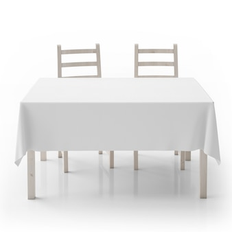Empty table and chairs isolated
