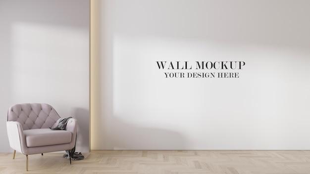 Empty wall mockup in 3d rendering