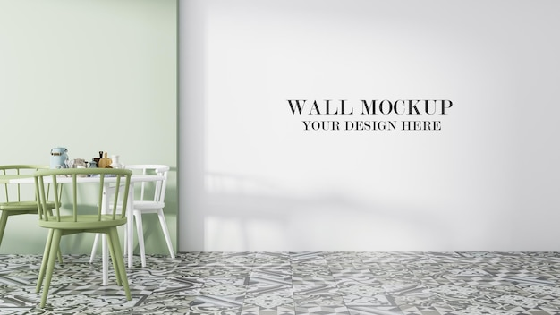 Empty wall mockup for your textures