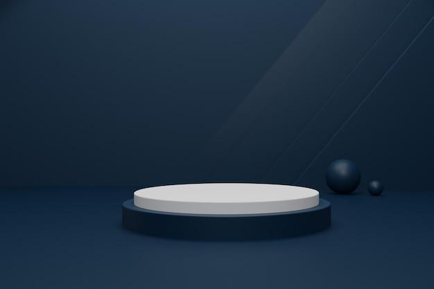製品ディスプレイ用の空の3dレンダリング表彰台