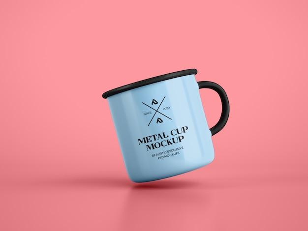 Эмаль кофейная кружка кубок макет