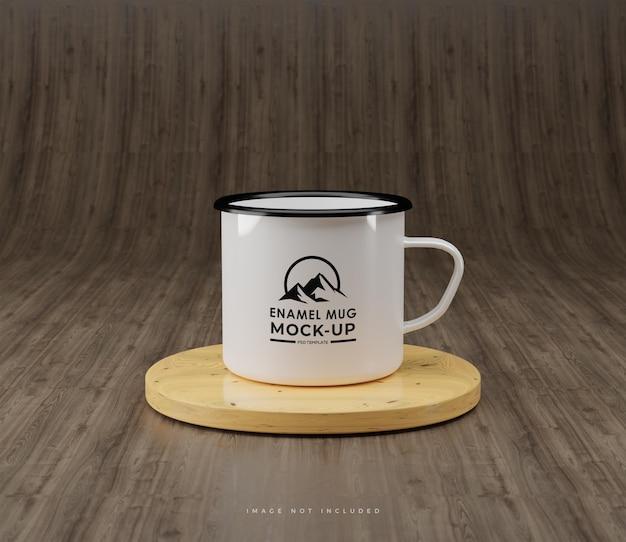 エナメルマグコーヒーのモックアップ