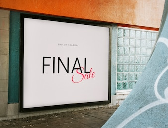 End of season final sale board mockup