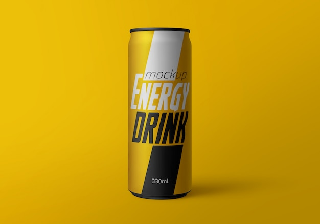 Energy drink can mockup