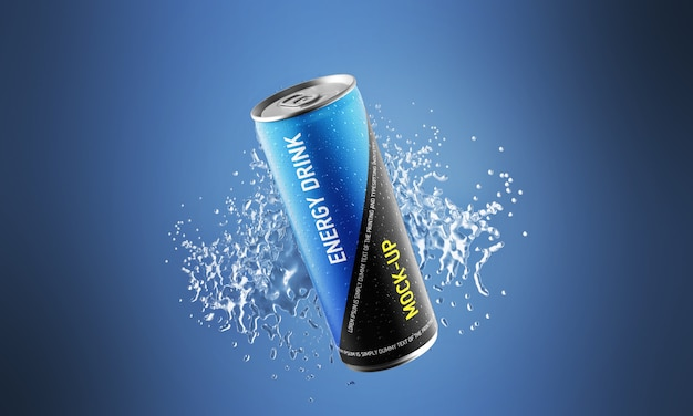 Energy drink mock-up