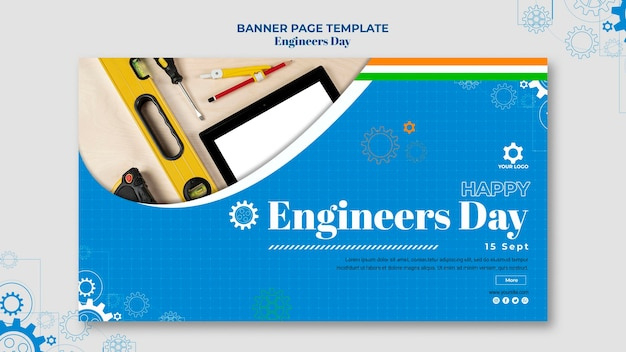 Шаблон баннера дня инженера