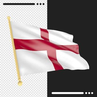 영국 국기 3d 렌더링 절연