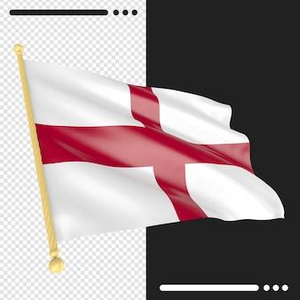 고립 된 3d 렌더링에 영국 국기