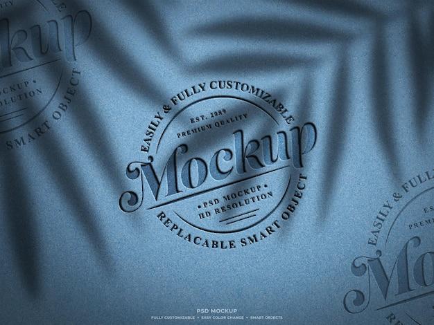 Дизайн макета с выгравированным логотипом