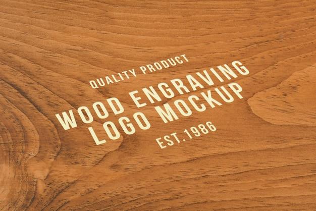 Engraving logo mockup