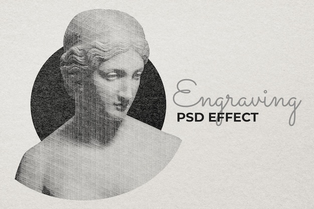 Engraving psd effect photoshop add-on
