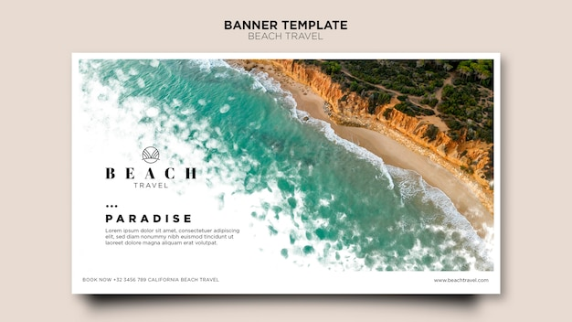 Enjoy best summer time top view ocean banner