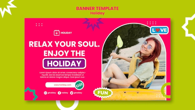 Enjoy the holidaybanner template