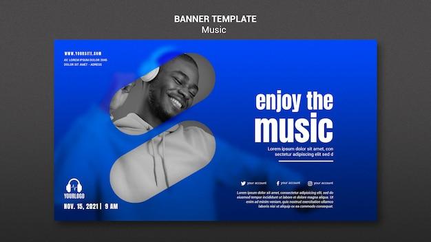 Enjoy music banner template