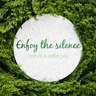 Enjoy the silence decoration concept