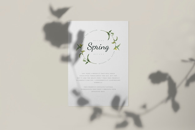Enjoy the spring season card mockup