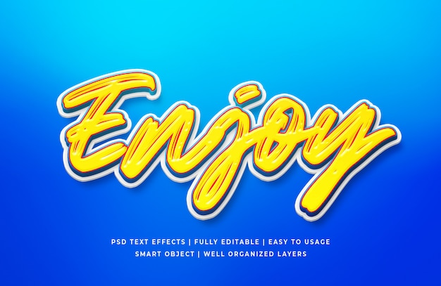 Enjoy text style effect