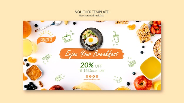 Enjoy your breakfast voucher template