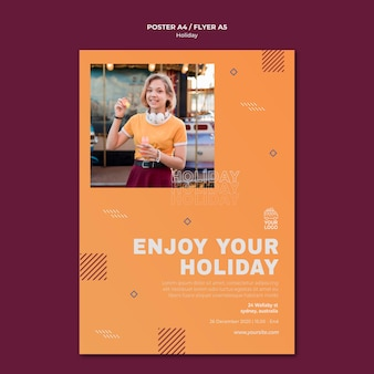Enjoy your holiday poster print template