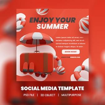 Наслаждайтесь своим шаблоном летней распродажи в instagram