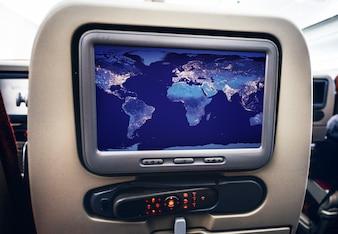 Entertainment visual screen on a plane