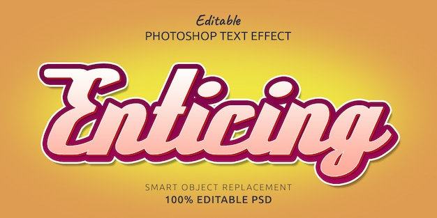 Enticing editable psd text style effect