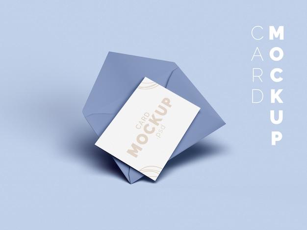 봉투 및 카드 모형 프리미엄 PSD 파일