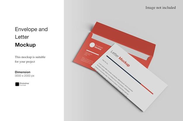 Дизайн макета конверта и письма