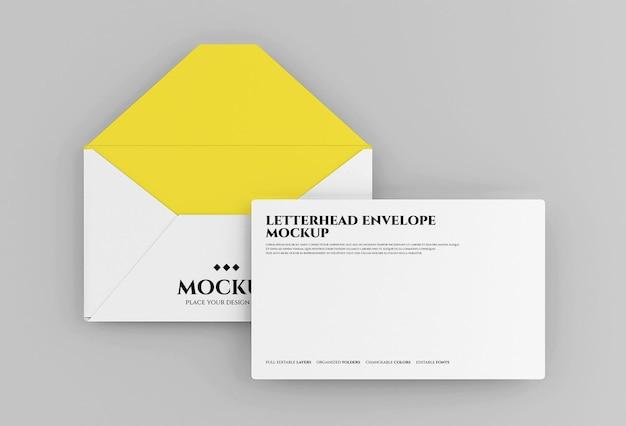Дизайн макета конверта в 3d рендеринге