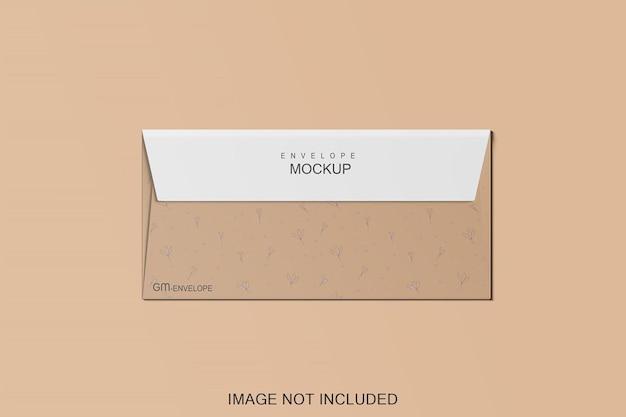 Дизайн макета конверта изолирован