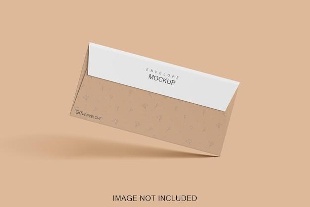 고립 된 봉투 모형 디자인