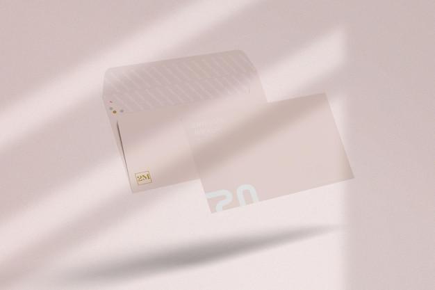 Визуализация дизайна макета конверта