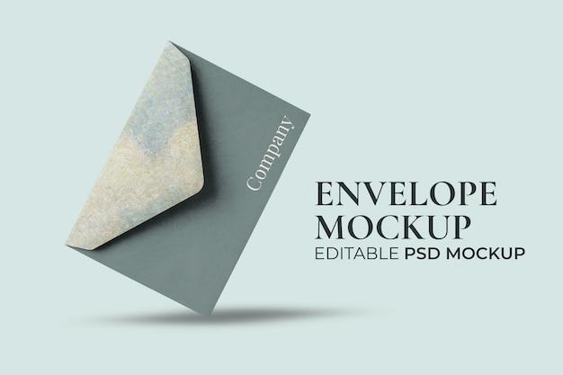 Envelope mockup psd editable wedding invitation and corporate identity stationery