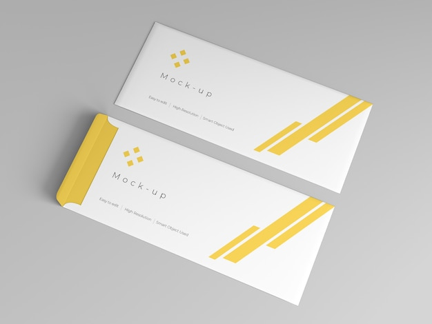 Envelope mockup template design