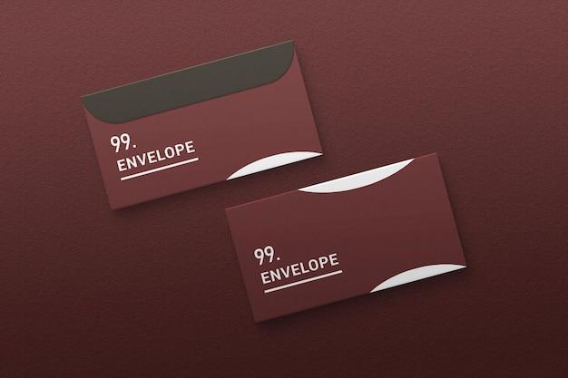 Envelope mockup on textured paper