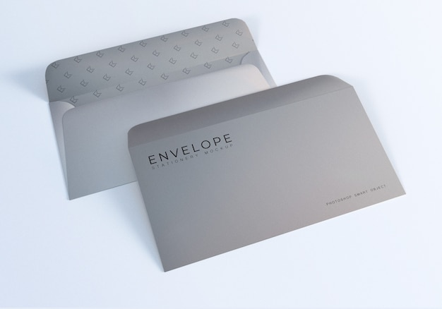 Envelope monarch size mockup