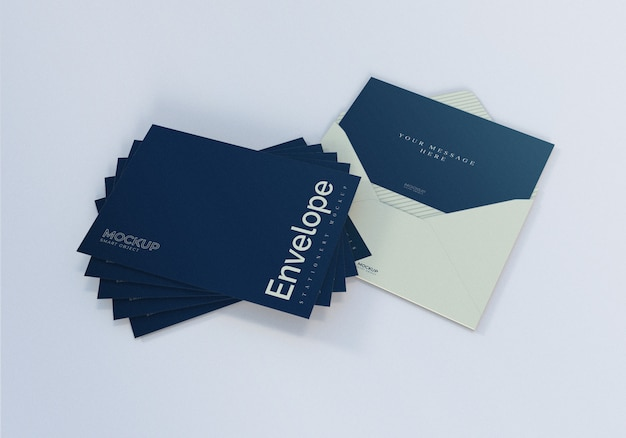 Envelope stacking mockup