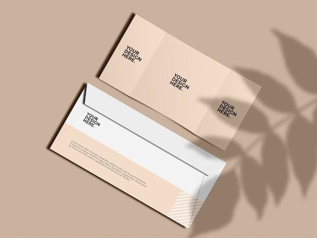 Envelope trifold mockup