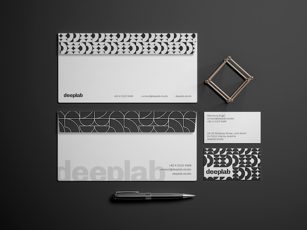 Envelope with business card