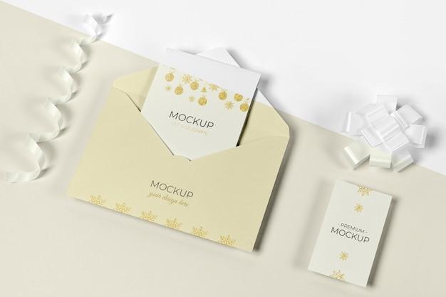 Envelope with invitation card for new year