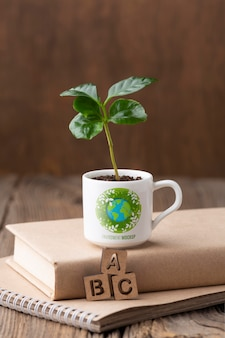 Environment arrangement with mock-up mug