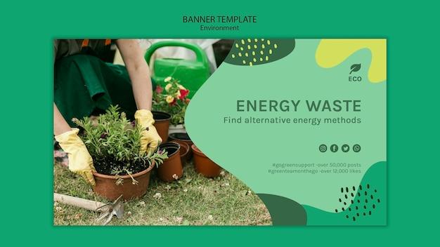 Environment concept banner template