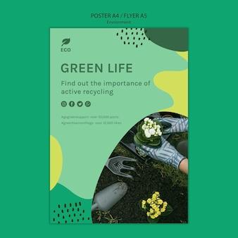 Environment concept flyer template