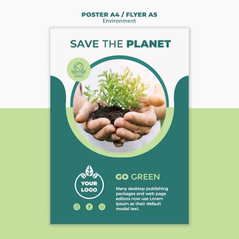 Environment flyer concept mock-up