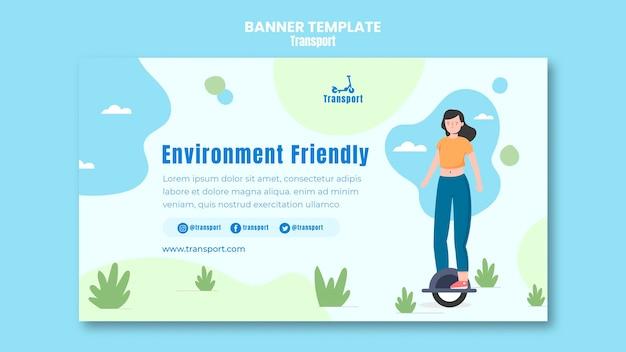 Modello di banner rispettoso dell'ambiente
