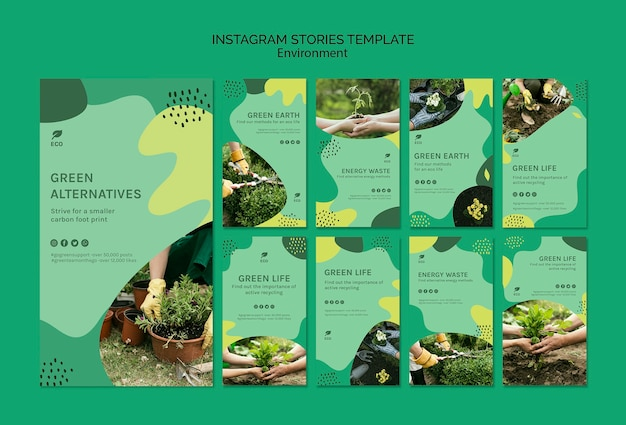 Environment instagram stories template