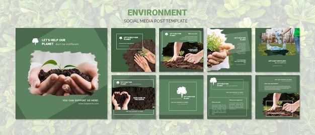 Environment social media post template