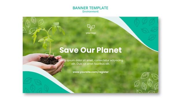 Tema ambientale per modello di banner