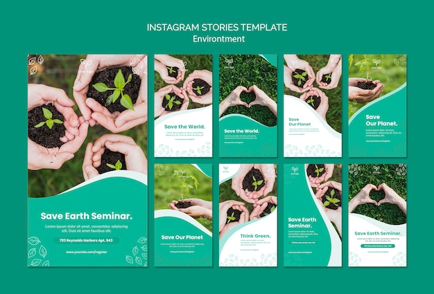 Environment theme for instagram stories template